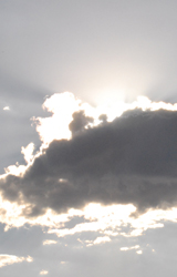 Sun behind a cloud